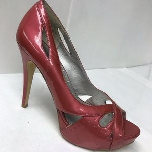 "Bakers 10M Pink Patent Leather Heels ""Krysta"" EUC"